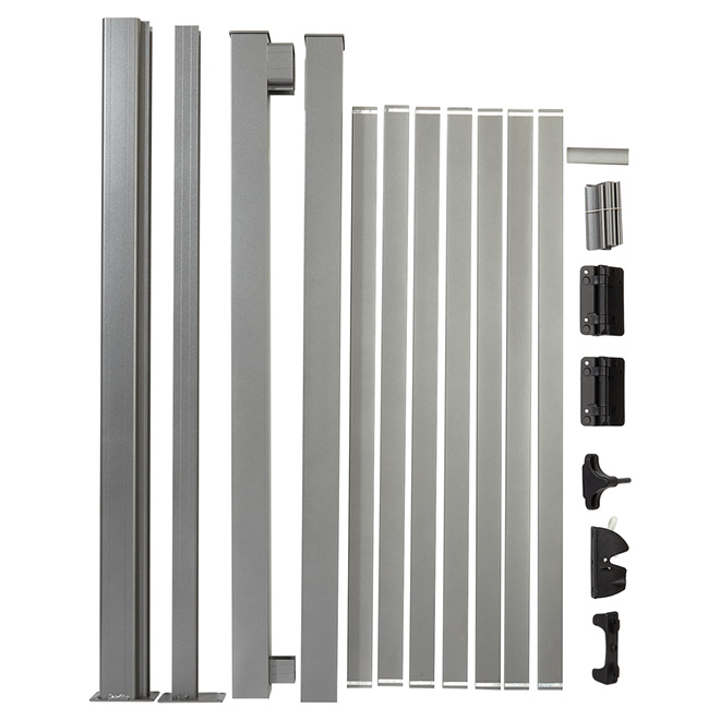Wide Gate Picket Railing Package - 42'' - Aluminum