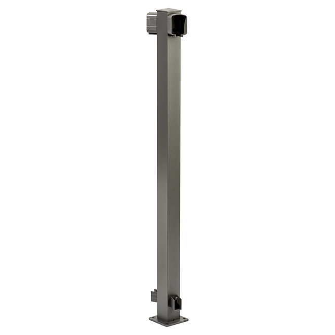 45-Degree Angle Post - Aluminum - 42'' - Titanium Grey