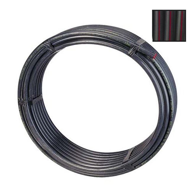"Polyethylene Pipe - 1 1/2"" - 75 PSI - 25'"