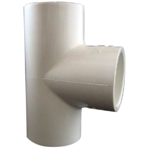 "Industrial PVC Reducing Tee - 1""-1/2"" - White"