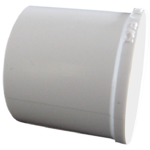 "Industrial PVC Pipe Plug - 3/4"" - White"