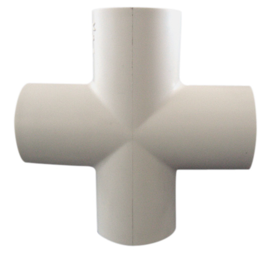 "Industrial PVC Cross Coupling - 1"" - White"