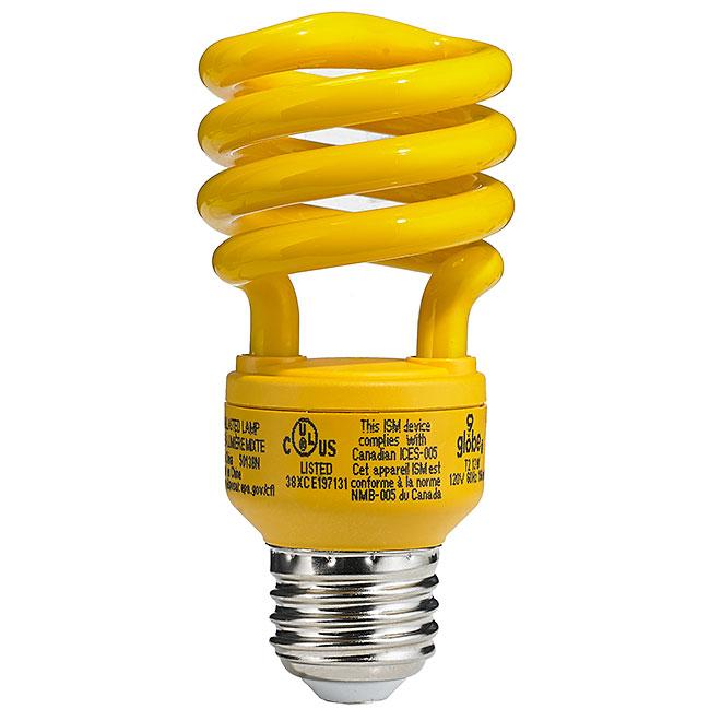 ampoule jaune anti insectes de 13 w rona. Black Bedroom Furniture Sets. Home Design Ideas