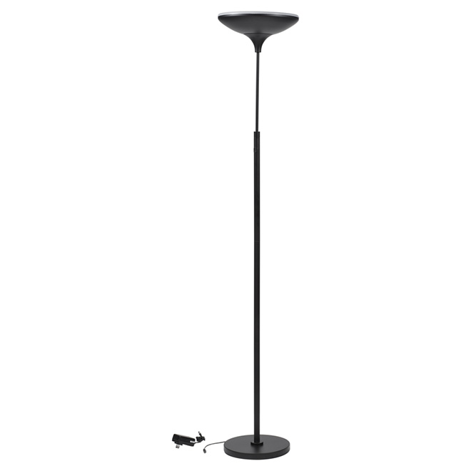 "LED Floor Lamp - Adjustable Height Up to 72"" - Black"