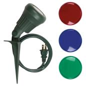 3.4W LED Garden Stake Spotlight - Green/Red/Blue