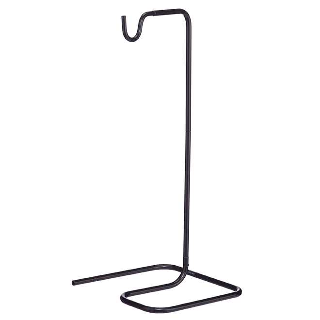 Support pour lampe de table, noir satiné, 18""