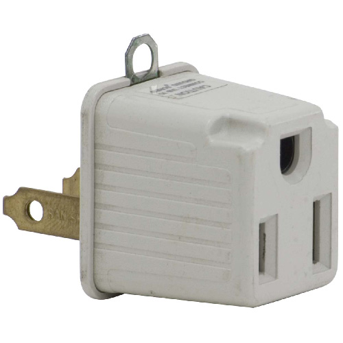 Grounded plug adapter