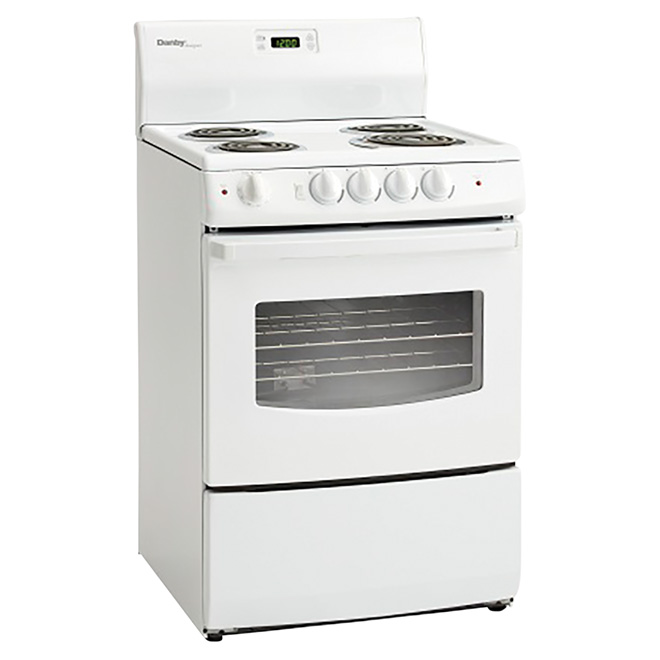 Compact Freestanding Electric Range - 3 cu. ft. - White