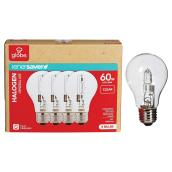 4-Pack 43 W A19 Clear Halogen Bulbs
