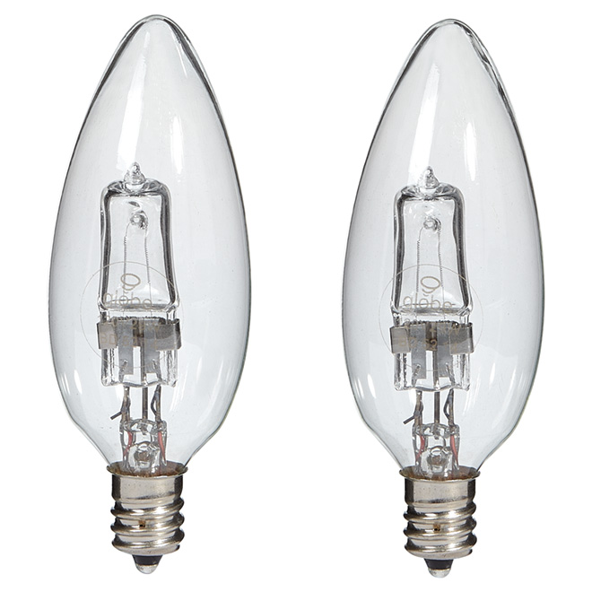 2-Pack 29 W B10 Clear Halogen Bulbs