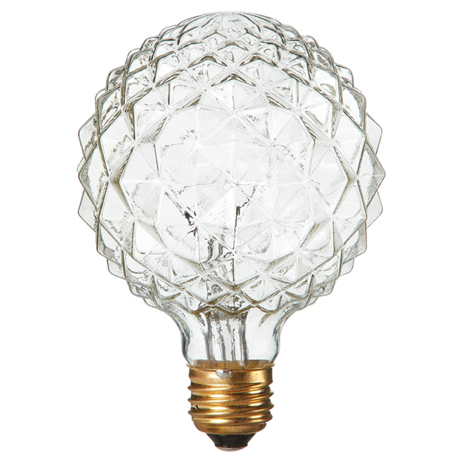 40W Incandescent Crystal - Cut G30 Light Bulb