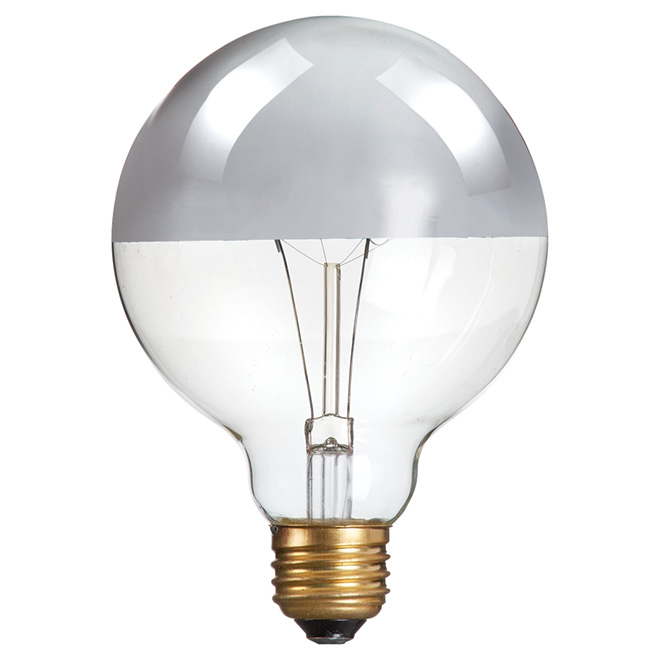 40W Incandescent Chrome - Top G25 Light Bulb