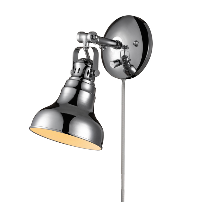 1-Light Pivoting-Shade Wall Sconce - Chrome