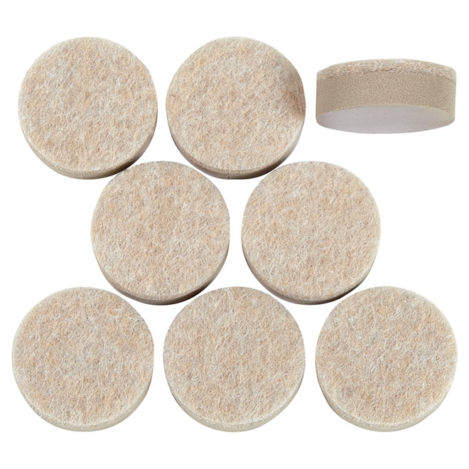 "Self-Adhesive Self-Levelling Pads - Round - 1"" - 8/Pk"