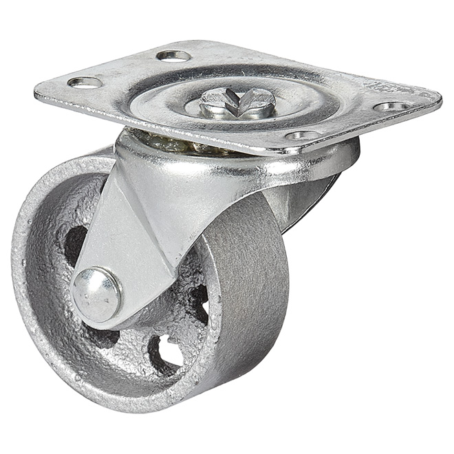 Sintered Iron Plate Swivel Caster - 126 lbs Capacity - 2""