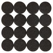 Self-Adhesive Felt Pads - Eco - Round - Black -1 1/8