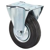Euro Series Rubber Plate Rigid Caster - 220 lbs Capacity -5