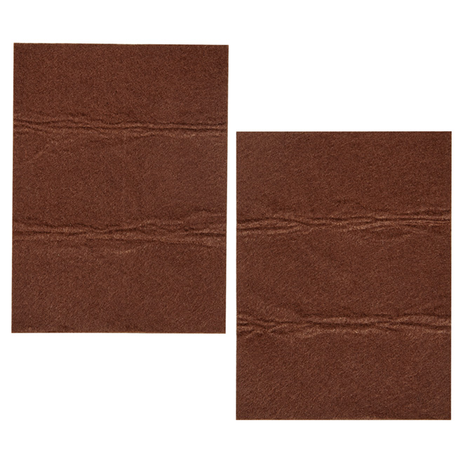 "Self-Adhesive Medium-Duty Felt Sheets - 4 1/4"" x 6"" - 2/Pk"