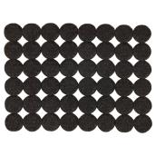 Self-Adhesive Felt Pads - Eco - Round - Black - 3/4