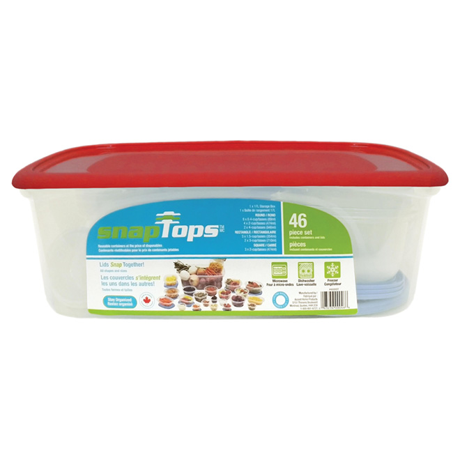 Set of 46 Plastic Containers for Food Storage