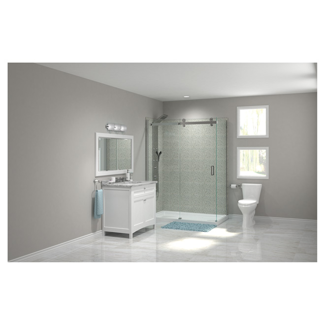 meuble lavabo malaga blanc mat rona. Black Bedroom Furniture Sets. Home Design Ideas