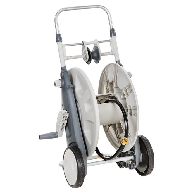 Hose Reel Cart with Hose Guide - Poly - 225' Hose Capacity