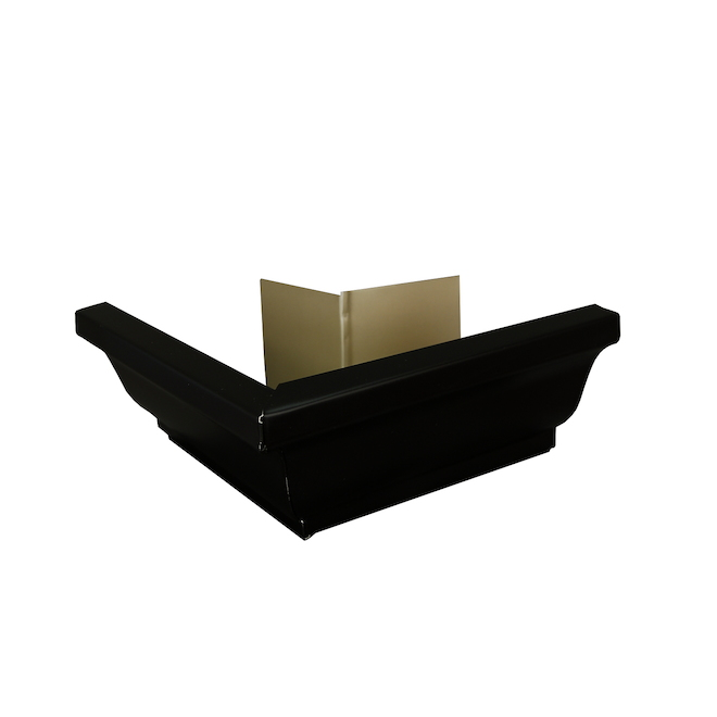 "K-Style Outside Gutter Corner - Aluminum - 5"" - Black"