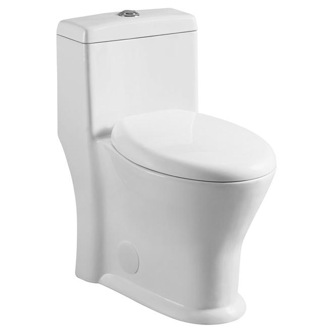 Round Front 1 Piece Toilet 4 L 6 L White Rona