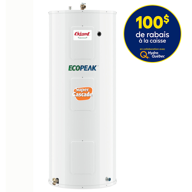 Electric Water Heater 60 Gal - 800 W/3000 W/3800 W - White