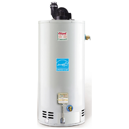Gas Water Heater 60 Gal - 40 000 BTU - White