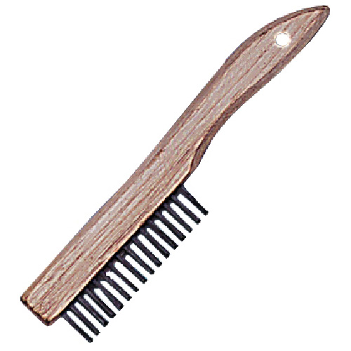Shoe handle brush