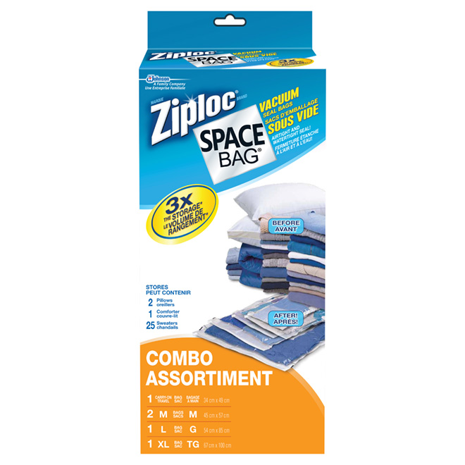 "Pack of 5 ""Space Bag"" Vacuum Seal Bags"