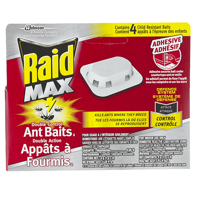 Raid Double Action Ant Bait - Pack of 4