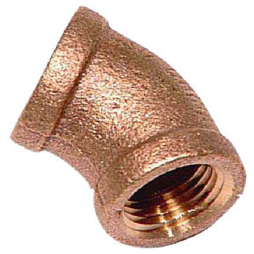"Elbow - Brass - 45° - 1/2"" x 1/2"" - FIP x FIP"