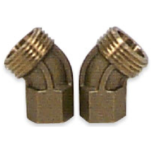 "Elbow - Brass - 45° - 1/2"" x 3/4"""