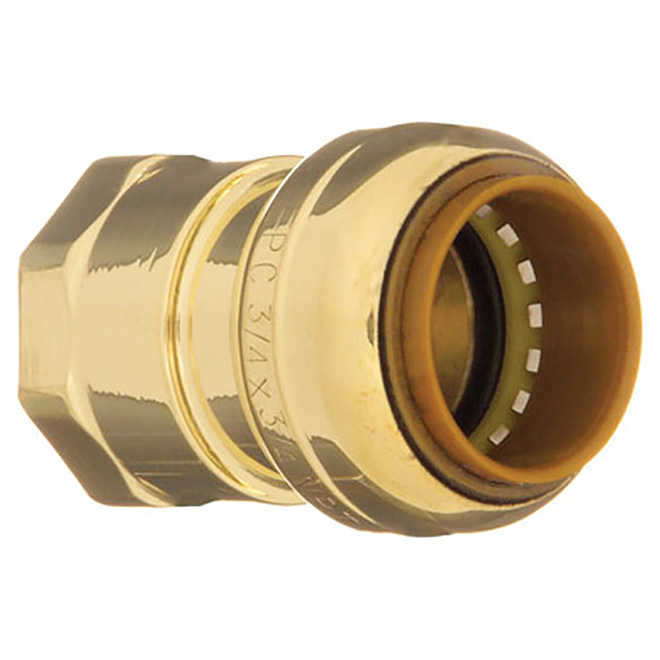 "Coupling - Lead-Free Brass - 1/2"" - Push x FIP"