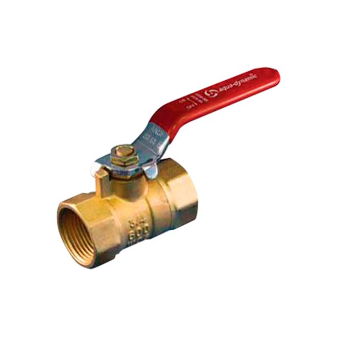 "Ball Valve - Straight Handle - Forged Brass - 1/2"" Threaded"
