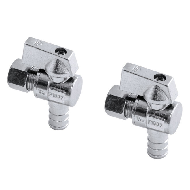 "1/2"" PEX x 3/8"" Angle Supply Stop Ball Valve"