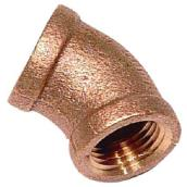 Elbow - Lead-Free Brass - 45° - 1/2