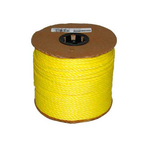 "Twisted Rope - 3-Strand - 1/4"" x 550' - Yellow"