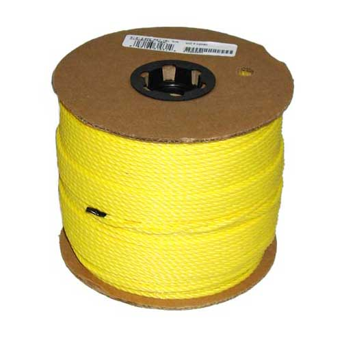 "Twisted Rope - 3-Strand - 3/16"" - Yellow"