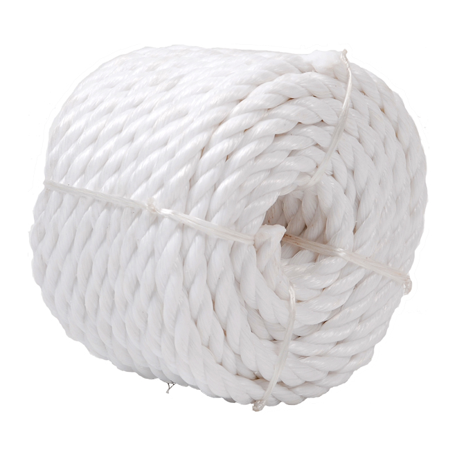 "Twisted Rope - 3-Strand - 1/2"" x 50' - White"