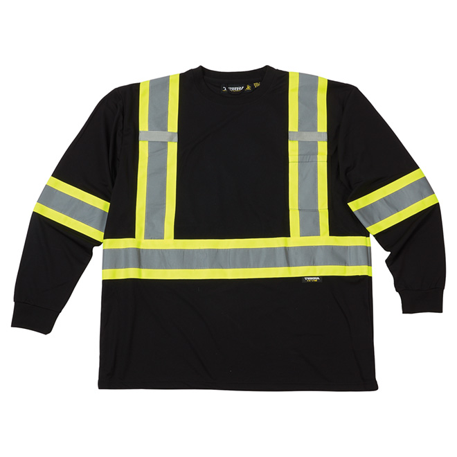 High Visibility Short Sleeve Shirt - Large - Black