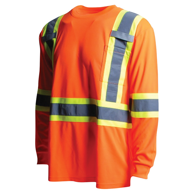 High Visibility Short Sleeve Shirt - XL - Orange
