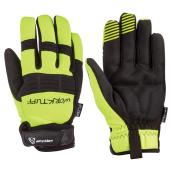 Men's High-Visibility Mechanic Gloves - Black/Yellow - M
