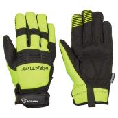 Men's High-Visibility Mechanic Gloves - Black/Yellow - XL