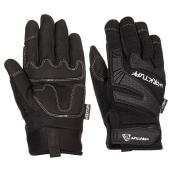 Men's Synthetic Leather Mechanic Gloves - Black - M
