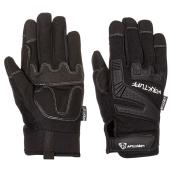 Men's Synthetic Leather Mechanic Gloves - Black - XL