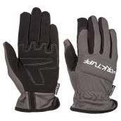 Women's Synthetic Leather Mechanic Gloves - Blue/Grey