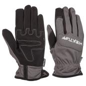 Men's Synthetic Leather Mechanic Gloves - Blue/Grey